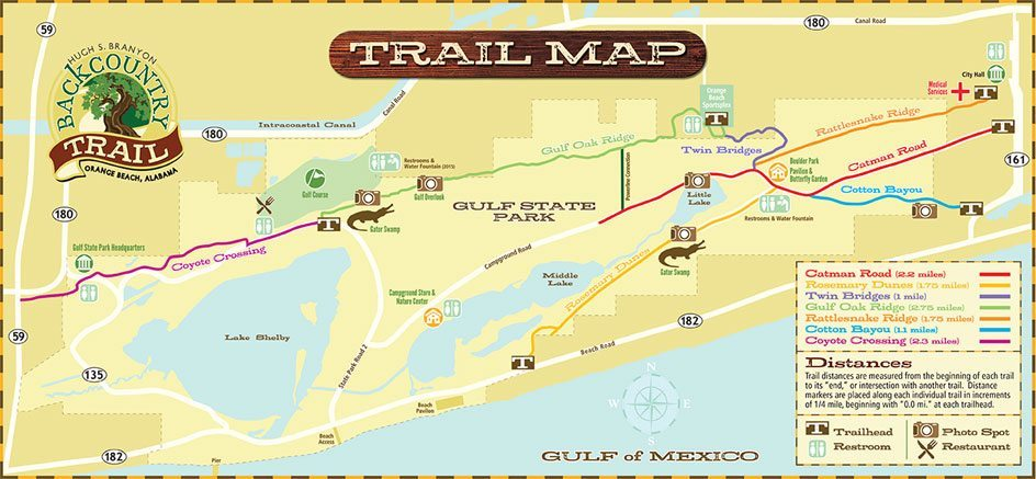 trail Map of the Hugh S. Branyon Backcountry Trail